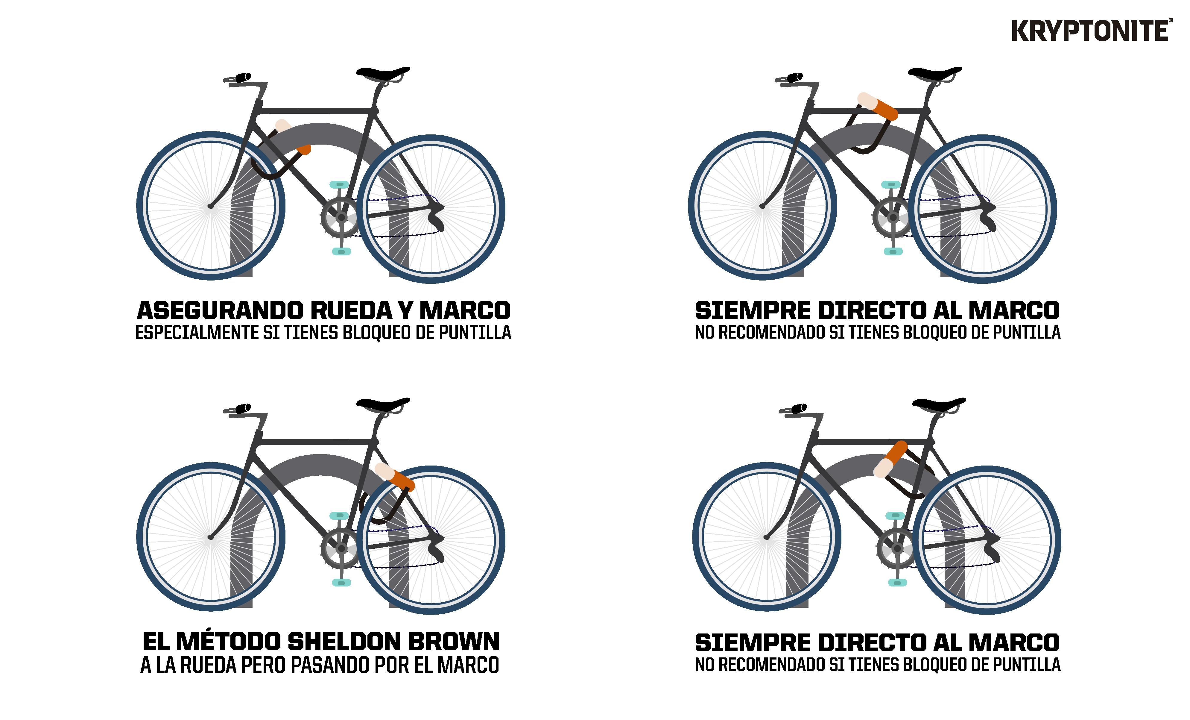 como asegurar tu bicicleta
